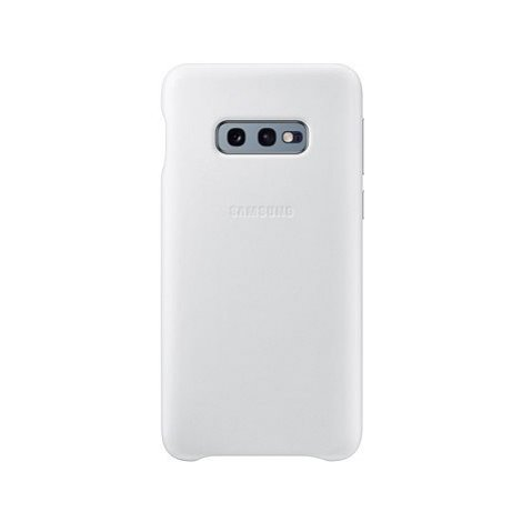 Samsung Galaxy S10e Leather Cover bílý
