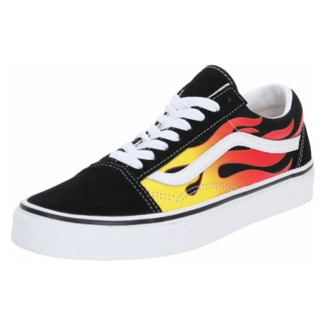 VANS Tenisky 'Old Skool' bílá / černá / žlutá / ohnivá červená