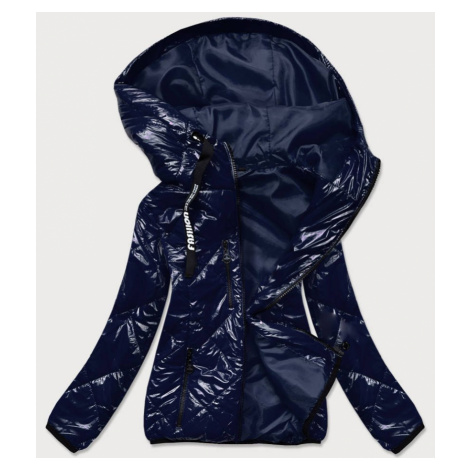 Tmavě modrá prošívaná bunda s kapucí (B9768) S'WEST