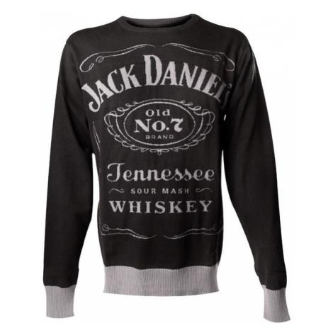 JACK DANIELS Knitted Sweater Černá Šedá