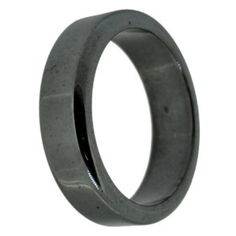 Buddhanaramek Hematitový magnetický prsten 0185 22mm