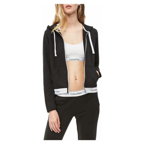 Calvin Klein černá dámská mikina Top Hoddie Full Zip