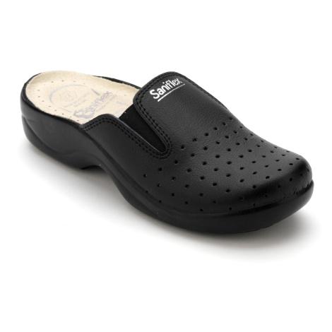 Blancheporte Pohodlné pantofle s pruženkou černá