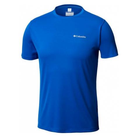 Columbia ZERO RULES SS SHRT M modrá - Pánské sportovní tričko