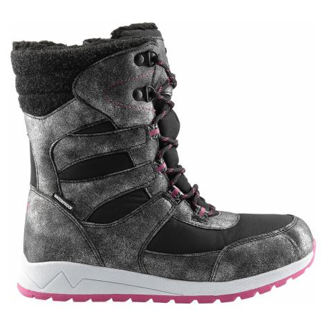 Zimní boty pro starší děti JOBDW404 – černé 4F