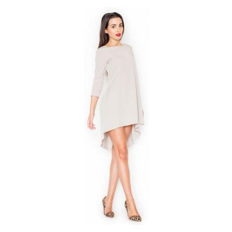 Dámské šaty Katrus K141 béžové | béžová