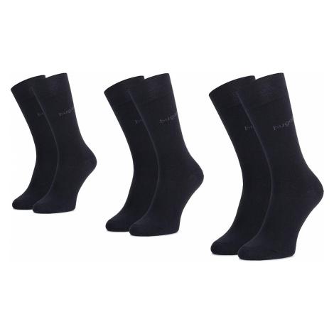 Sada 3 párů pánských vysokých ponožek BUGATTI - 6703 Dark Navy 545