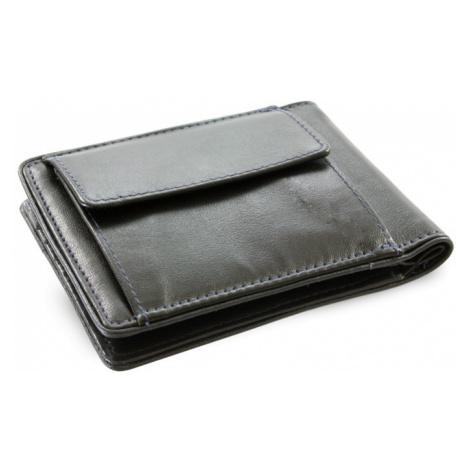 Černo modrá pánská kožená peněženka - dolarovka Angelica Arwel