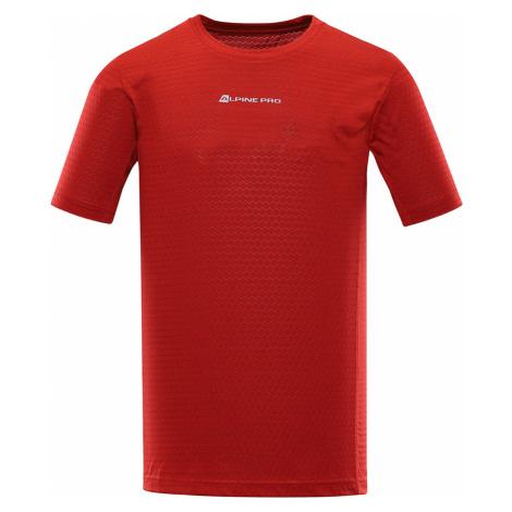 ALPINE PRO DONMAT 2 Pánské funkční triko MTSR465423 červená