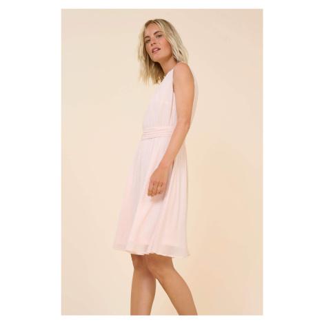 Puntíkové šaty s áčkovou sukní Orsay