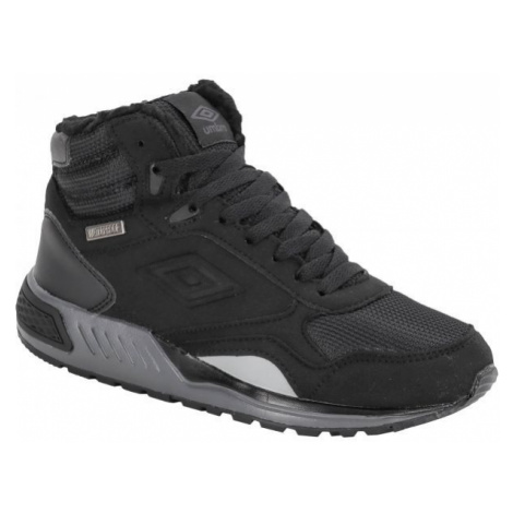 Umbro REDHIL MID WP JNR černá - Chlapecká zimní obuv