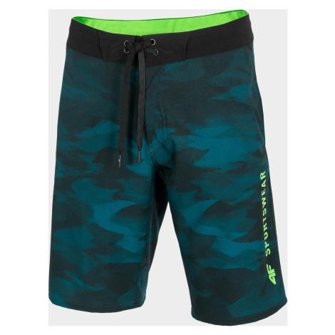 Pánské koupací šortky SKMT202 zelené allover 4F