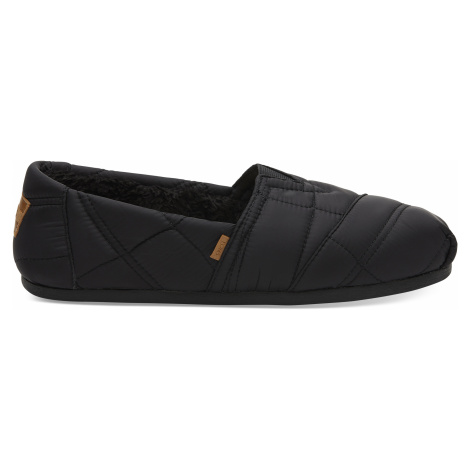 Black Quilted Nylon TOMS Venice Collection Men Alpargata