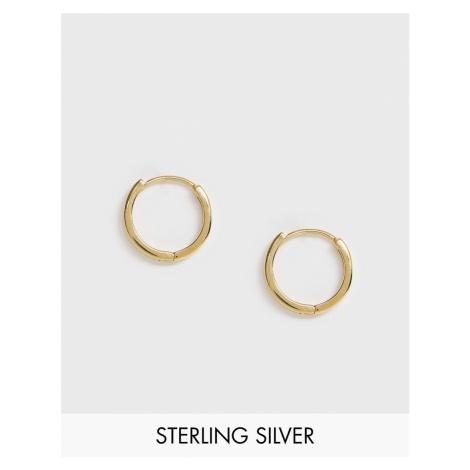 ASOS DESIGN sterling silver chunky hoop earrings in 14k gold plate