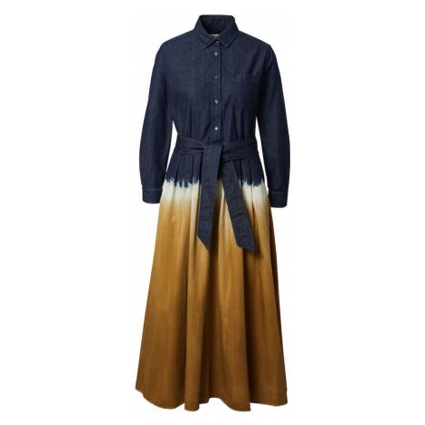 Weekend Max Mara Košilové šaty 'DORINA' tmavě modrá / přírodní bílá / medová