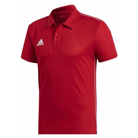 Tričko adidas Core 18 polo Červená / Bílá