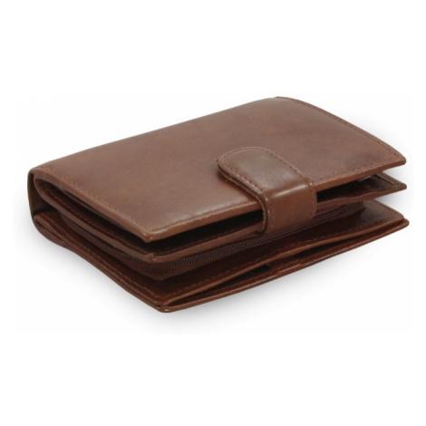 Tmavě hnědá dámská kožená peněženka Kendall Arwel