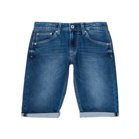 Pepe jeans CASHED SHORT Modrá