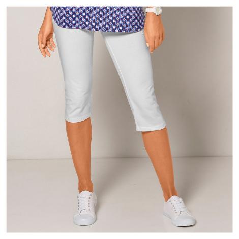 Blancheporte Jednobarevné korzárské kalhoty bílá