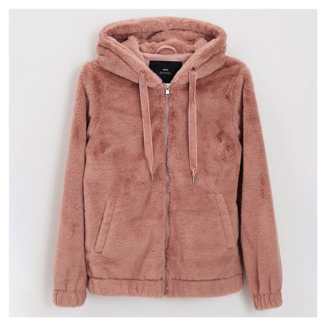 Cropp - Nadýchaná bunda s kapucí - Růžová