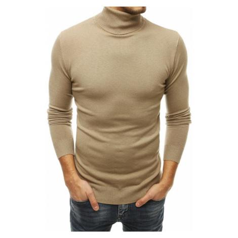 Men's beige turtleneck sweater WX1533 DStreet