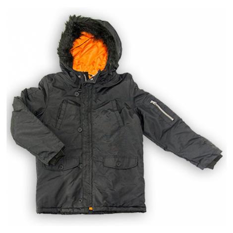 Kabát chlapecký Parka, Minoti, WORD 3, černá