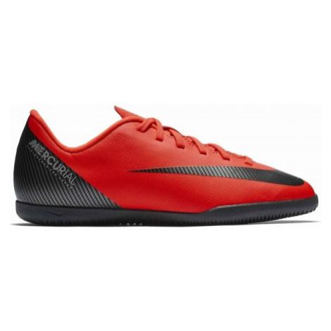 Nike CR7 JR VAPORX 12 CLUB IC červená - Chlapecké sálovky