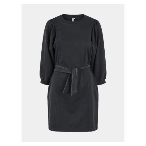 Pieces černé mikinové šaty Gahoa