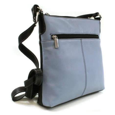 Modro černá dámská kožená crossbody kabelka Vatie Arwel