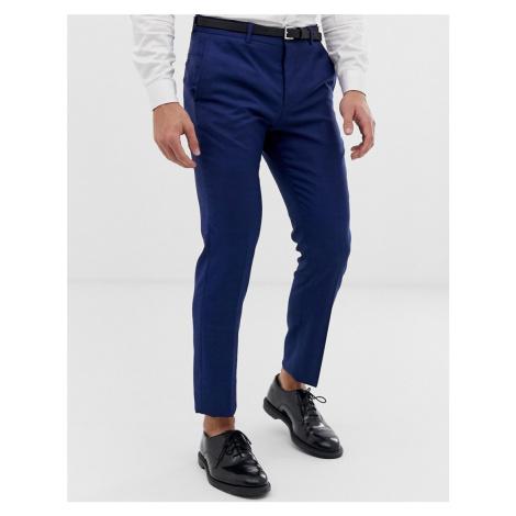 Jack & Jones Premium slim fit stretch suit trousers in blue