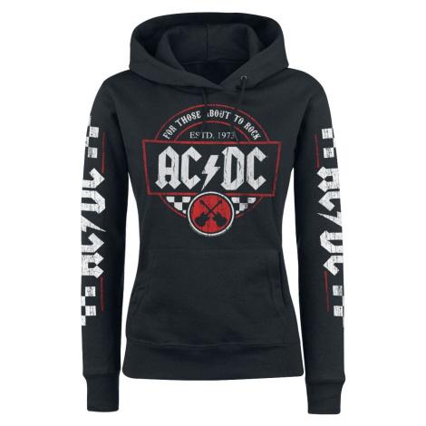 AC/DC Rock Race Dámská mikina s kapucí černá
