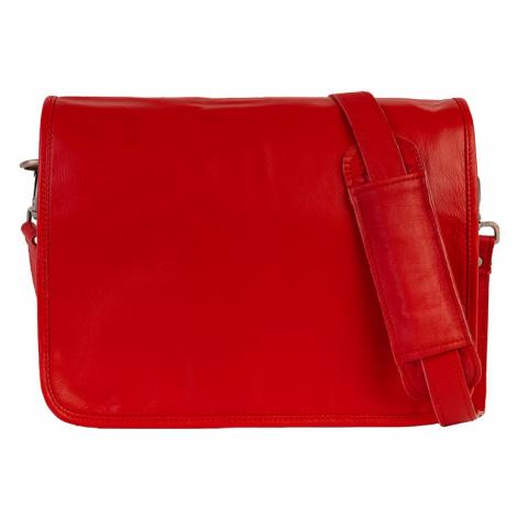Bagind Ramen Red - Dámská i pánská kožená crossbody taška červená, ruční výroba, český design