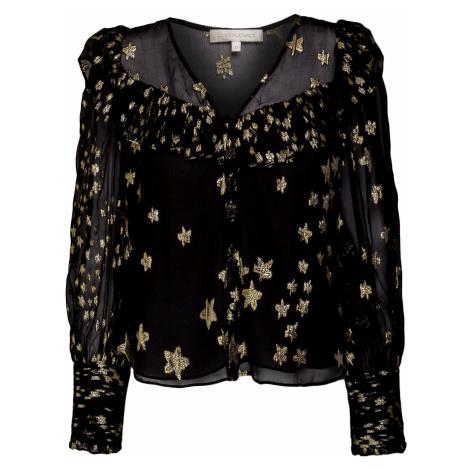 Košile LoveShackFancy HARLEIGH vzorkování černá zlatá