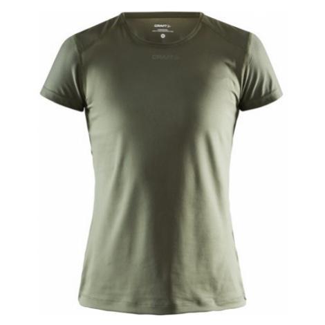 Dámské tričko CRAFT ADV Essence Slim SS tmavě zelená
