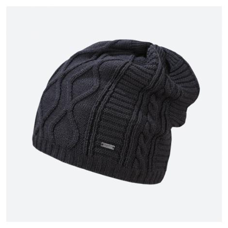 Kama pletená Merino čepice A150 tmavě šedá