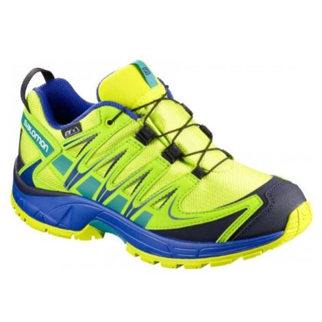 Salomon XA PRO 3D CSWP K zelená - Dětská běžecká obuv