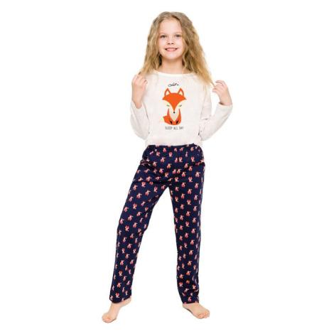 Dívčí pyžamo Sofinka béžové s liškou Taro