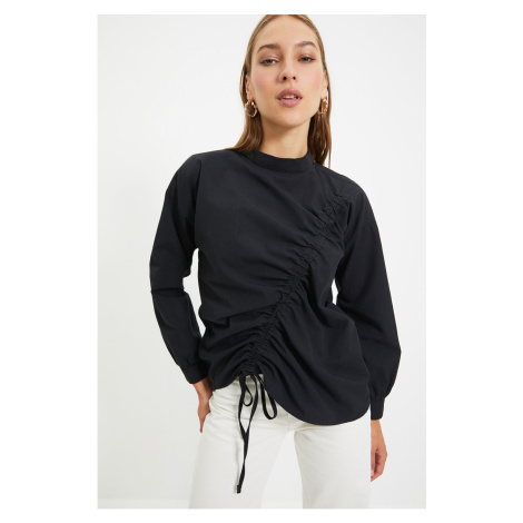 Trendyol Black High Neck Blouse