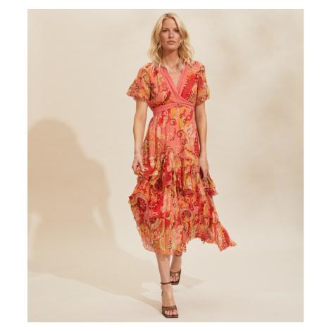 Šaty Odd Molly Positano Long Dress - Červená