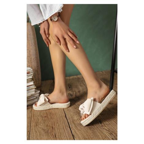 Béžové semišové pantofle Myla Erynn