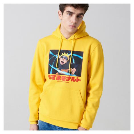 Cropp - Mikina s kapucí Naruto Shippuden - Žlutá