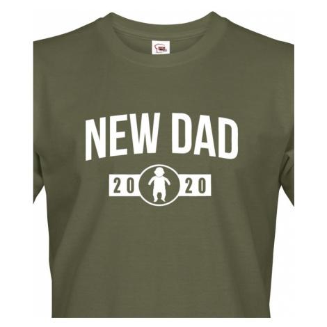 Pánské triko pro nastávající tatínka New dad - ideální dárek BezvaTriko