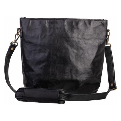 Bagind Bela Sirius - Dámská kožená kabelka černá, ruční výroba, český design
