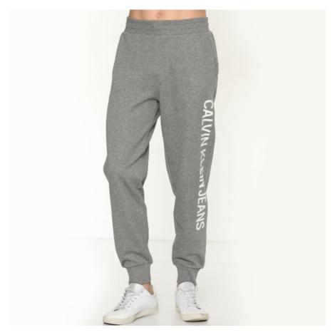 Calvin Klein pánské šedé teplákové kalhoty Logo