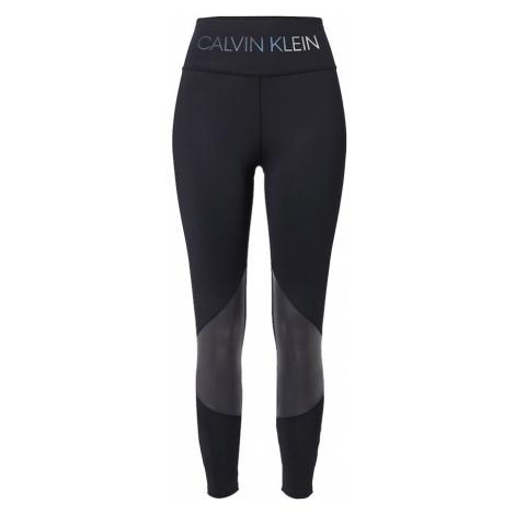 Calvin Klein Performance Sportovní kalhoty černá / bílá / tmavě šedá