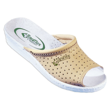 Blancheporte Pohodlné Pantofle, otevřená špička béžová