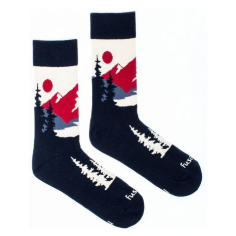 Veselé ponožky Fusakle panoramata (--0983)