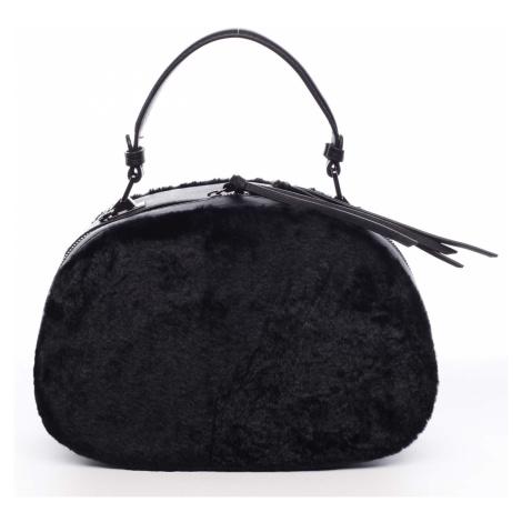 Dámská kožešinová kabelka černá - MARIA C Hasiel Maria C.