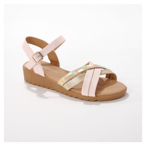 Blancheporte Páskové sandály, slonová kost/ zlaté slonová kost/zlatá