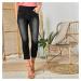 Blancheporte 3/4 džínové kalhoty černá